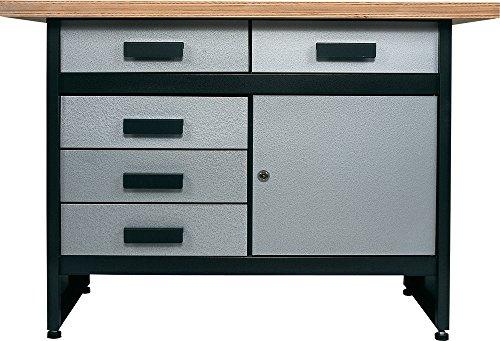 Profi-Werkbank-mit-5-kugelgelagerten-Stahl-Schubladen-keine-einfachen-Kchenschubladen-und-1-Tr-40-mm-stabile-Arbeitsplatte