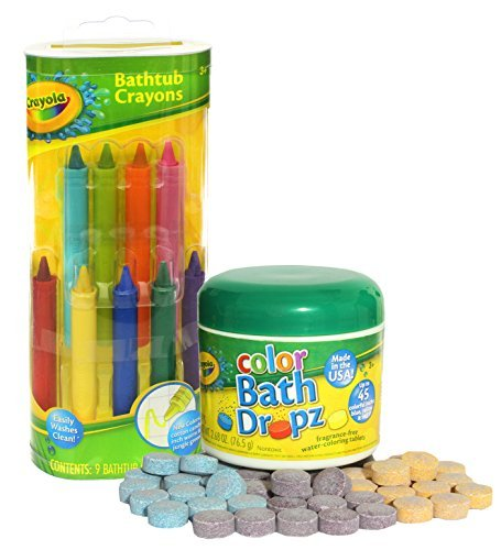 Crayola Bathtub Crayons with Crayola Color Bath Drops 60 tablets