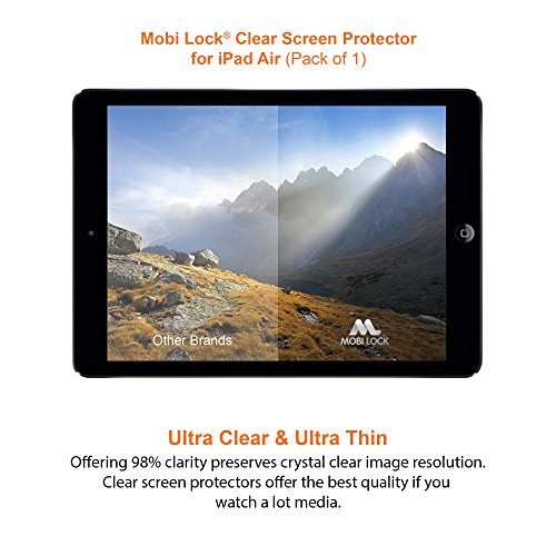 iPad Air Clear Screen Protector (Pack of 1) - by Mobi Lock?...