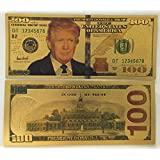 Authentic $100 President Donald Trump Authentic 24kt Gold Plated Commemorative Bank Note Collectors Item by Aizics Mint