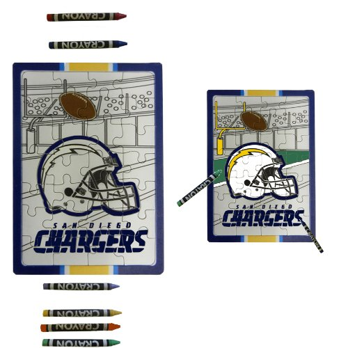 San Diego Chargers Children Fun Color Your Own Puzzle Set