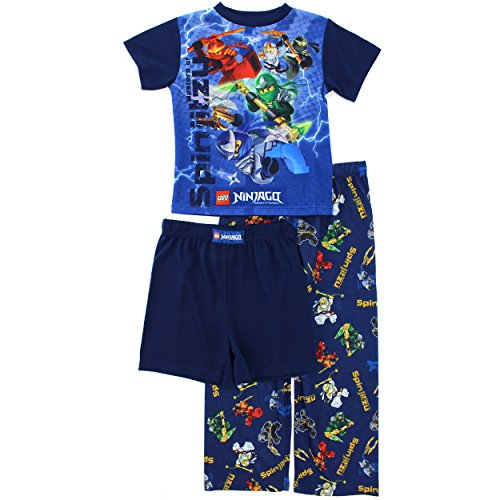 Lego Ninjago Boys Navy 3 pc Poly Pajamas