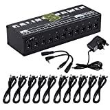 Caline CP-05 Guitar Pedal Board Power Supply 10 Output 9V 12V 18V Effect Pedals with Short Circuit / Overcurrent Protection