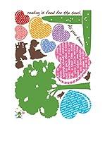 Ambiance Live Vinilo Decorativo Tree and heart Multicolor