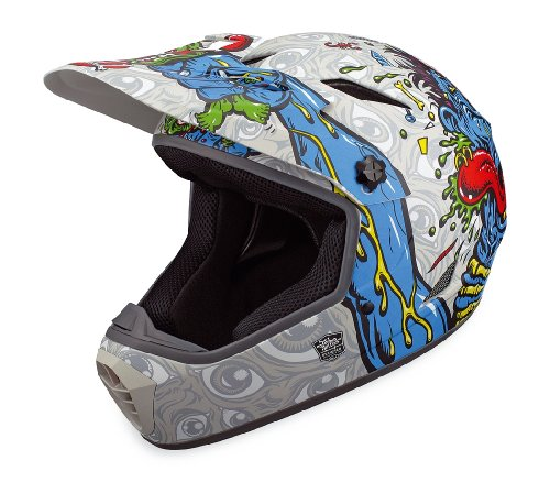 Bell Drop BMX/Downhill Helmet, Grey/Blue Jimbo Phillips Choke, Medium
