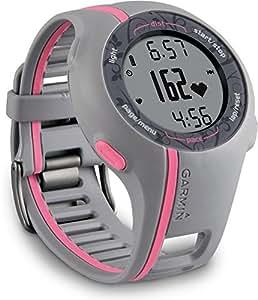 Garmin Forerunner 110 avec ceinture cardio - Montre GPS de running - Gris/Rose