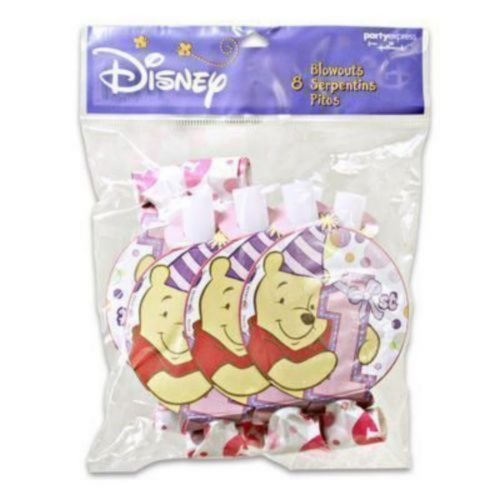 Winnie the Pooh Girl's 1st Birthday Blowouts / Favors (8ct)