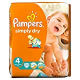 Pampers Pampers Simply Dry Gr.4 Maxi 7-18kg Jumbo Box, 2er Pack (2 x 74 Windeln)
