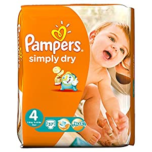 Pampers Simply Dry Size 4 Large,(Pack of 2)