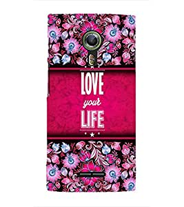 Love Your Life Cute Fashion 3D Hard Polycarbonate Designer Back Case Cover for Alcatel Flash 2 :: Alcatel Onetouch Flash 2