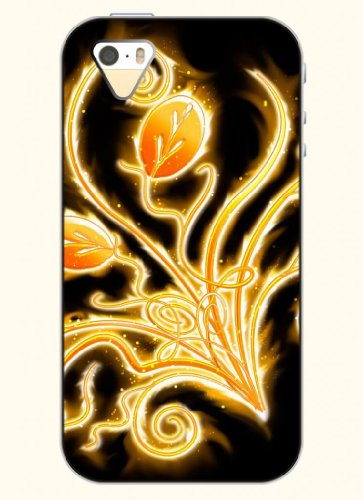 Oofit Phone Case Design With Firing Leaf For Apple Iphone 5 5S 5G