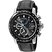 Citizen Eco-Drive World Time A-T Perpetual Men's Watch (Black)