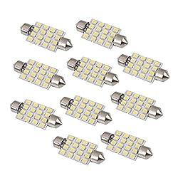 See Rosequartz 10X 42mm 16 LED Interior Car Dome Festoon Light Bulbs White Details