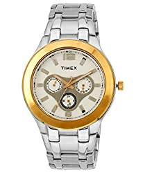 Timex E-Class Analog White Dial Mens Watch - F902