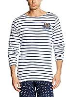 Vent Du Cap Camiseta Manga Larga Crivik/Pr (Blanco / Azul Marino)