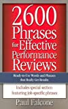 img - for Paul Falcone: 2600 Phrases for Effective Performance Reviews : Ready-To-Use Words and Phrases That Really Get Results (Paperback); 2005 Edition book / textbook / text book