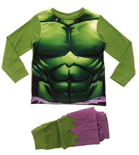 Marvel Boys Kids Avengers Incredible Hulk Pyjamas Pj Set Size UK 5-6 Years