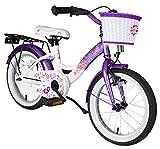 BIKESTAR® Premium Kinderfahrrad für sichere und sorgenfreie Spielfreude ab 4 Jahren ★ 16er Classic Edition ★ Candy Lila & Diamant Weiß