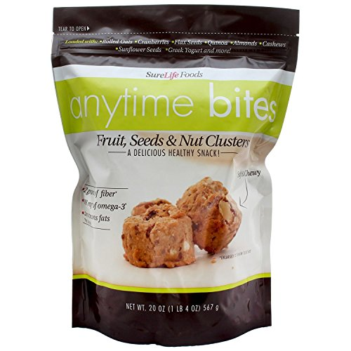 Surelife Foods Anytime Bites Fruit Seed And Nut Clusters (20 Oz Bag)