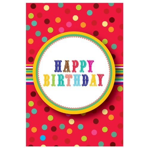 Jillson Roberts Recycled Gift Enclosure Cards, Birthday Button, 12-Count (EC148)