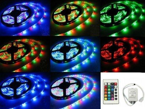 Hossen® 5M 3528 Rgb 300Led Waterproof Flexible Strip Light Super Xmas Party+24Key Remote