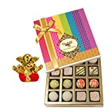 Chocholik Belgium Chocolates - Desert Lovers Chocolate And Truffle Gift Box With Small Ganesha Idol - Gifts For...