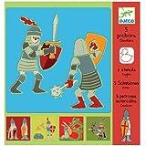 Manualidad infantil Djeco Plantillas Caballeros Medievales Niños de 4 a 8 años
