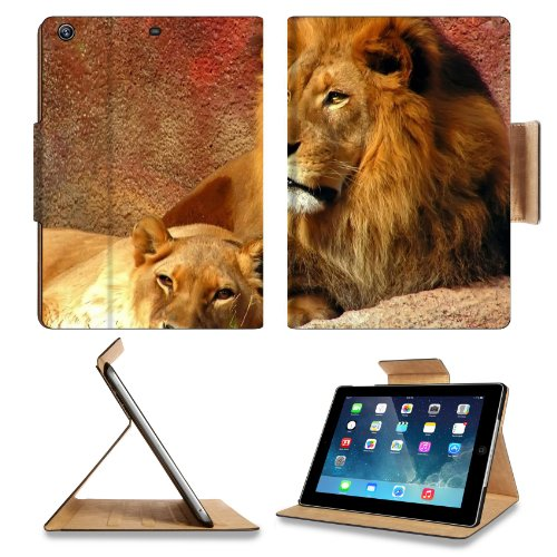 Animal Wildlife Lion King Pride Mane Cat Predator Apple Ipad Air Retina Display 5Th Flip Case Stand Smart Magnetic Cover Open Ports Customized Made To Order Support Ready Premium Deluxe Pu Leather 9 7/16 Inch (240Mm) X 7 5/16 Inch (185Mm) X 5/8 Inch (17Mm front-260413