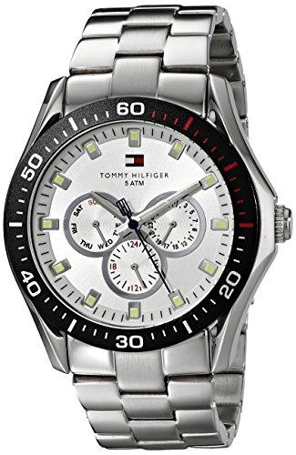Tommy-Hilfiger-Mens-1790606-Multi-Function-Stainless-Steel-Bracelet-Watch