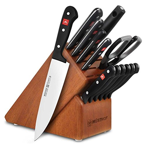 Wüsthof Gourmet 14-Piece Deluxe Knife Block Set (Cherry Block)