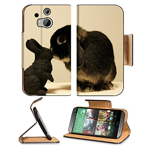 Rabbit White Black Brindle Baby Animal Htc One M8 Flip Case Stand Magnetic Cover Open Ports Customized Made To Order Support Ready Premium Deluxe Pu Leather 6 4/16 Inch (158Mm) X 3 4/16 Inch (82Mm) X 9/16 Inch (14Mm) Liil Htc1 Cover Professional M 8 Cases front-763436