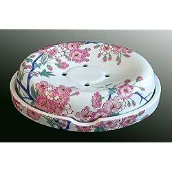 Arita Porcelain SOMENISHIKI WITH GOLD CHERRY BLOSSOM Soap dish