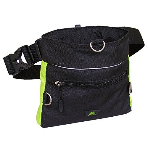 Bild von: Dogsline Futtertasche , Leckerlibeutel mit Einhand-Schnappverschluss , 20x18cm schwarz grün , DL63TB