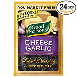 Daily Deal on Kraft Good Seasons Salad Dressing & Recipe Mix, Cheese Garlic, 0.65-Ounce Packets (Pack of 24) Low price