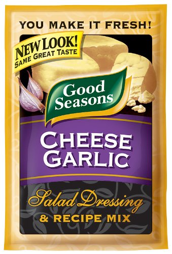 Kraft Good Seasons Salad Dressing & Recipe Mix, Cheese Garlic, 0.65-Ounce Packets (Pack of 24)