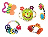 Sassy Baby's First Rattle and Teether 5 Piece Gift Set revision