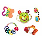 Sassy Baby's First Rattle and Teether 5 Piece Gift Set ~ Sassy