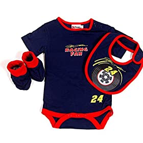 nascar baby clothes 24 Jeff Gordon Newborn Creeper Bib Booties