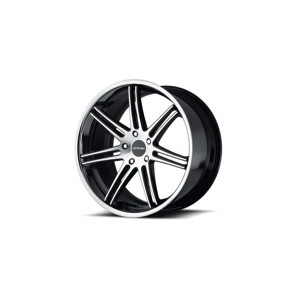 Lorenzo WL198 Wheel with Gloss Black Machined (20x9/5x130mm)