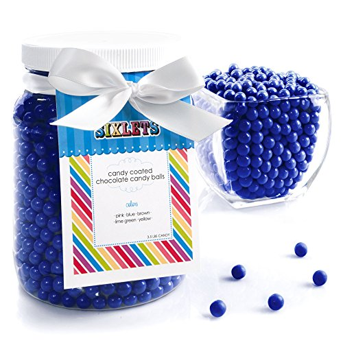 Navy Blue Sixlets - Baby Shower & Birthday Party Candy - 1/2 Gallon front-147117