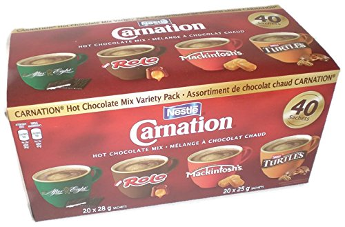 Nestle Carnation Hot Chocolate Mix Variety Pack After Eight, Rolo, Mackintosh's, Turtles 40 Count (Carnation Rolo Hot Chocolate compare prices)