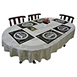 Thefancymart 6 Pcs set of Reversable Table Mats with Coasters Style code -36
