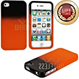 "myLife (TM) Orange and Black - Two Tone Series (2 Piece Snap On) Hardshell Plates Case for the iPhone 4/4S (4G) 4th Generation Touch Phone (Clip Fitted Front and Back Solid Cover Case + Rubberized Tough Armor Skin + Lifetime Warranty + Sealed Inside myLife Authorized Packaging) ""ADDITIONAL DETAILS: This two piece clip together case has a gloss surface and smooth texture that maximizes the sty at Amazon.com"