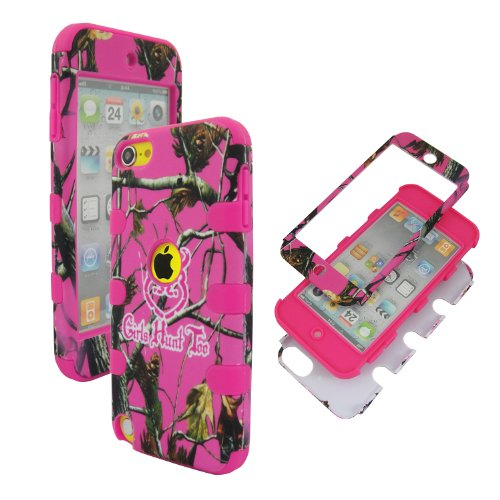 Camouflage Woods Design AUTUMN camo tree Hard Combo Case for Ipod Touch 5th Gen ipod touch 5 case e lv ipod touch 5 case hard and soft hybrid armor defender sports combo case for apple ipod touch 5 itouch 5th generation with 1 screen protector 1 black stylus 1 water resistant bag and 1 e lv microfiber digital cleaner