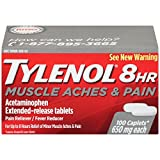 Tylenol 8 Hour Muscle Aches and Pain Caplets, 100 Count