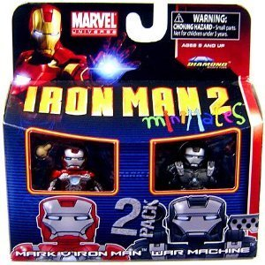Picture of Diamond Select Marvel Minimates Series 35 Mini Figure 2Pack Iron Man Mark V & War Machine (B003HEVSBG) (Iron Man Action Figures)