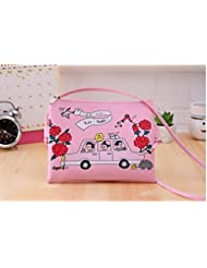 Quirky Patched Graphic Pink White Red Sling Chic Handbag Sling Bag