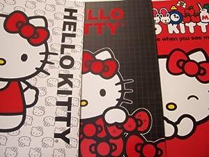 Hello Kitty 3 Folder Set ~ Kitty with White Kitty Face Background, Kitty with Bows, Say Hello to Me