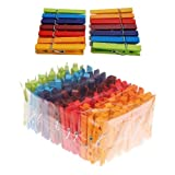 Grimms Rainbow Of Wooden Colored Clothespins - For Play & Crafts, Set Of 126