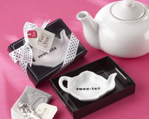 Kate Aspen 23019WT Swee-Tea Ceramic Tea-Bag Caddy